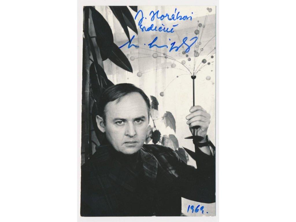 Lipský Lubomír (1923-2015), herec, portrétová fotografie s podpisem