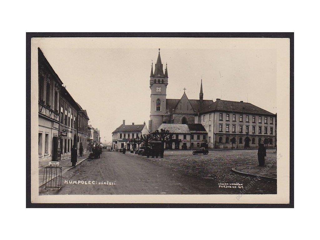 45 - Pelhřimovsko, Humpolec, náměstí, nakl. Vomáčka, cca 1930
