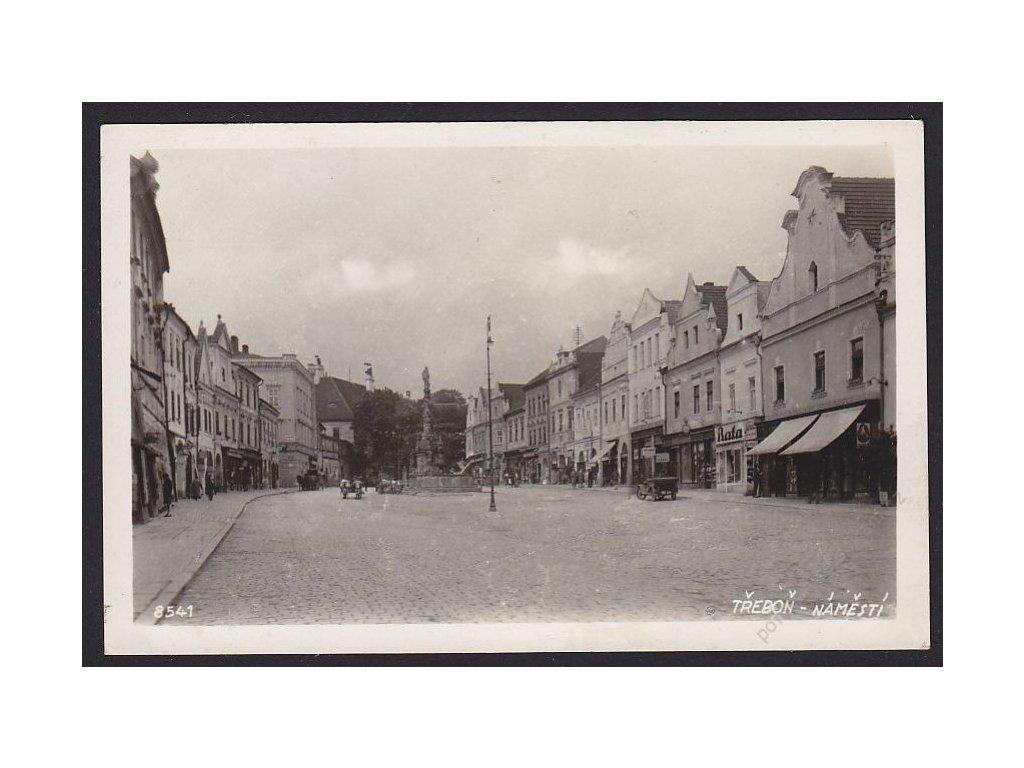 24 - Jindřichohradecko, Třeboň, náměstí, Bromografia, nakl. Semrád, cca 1937