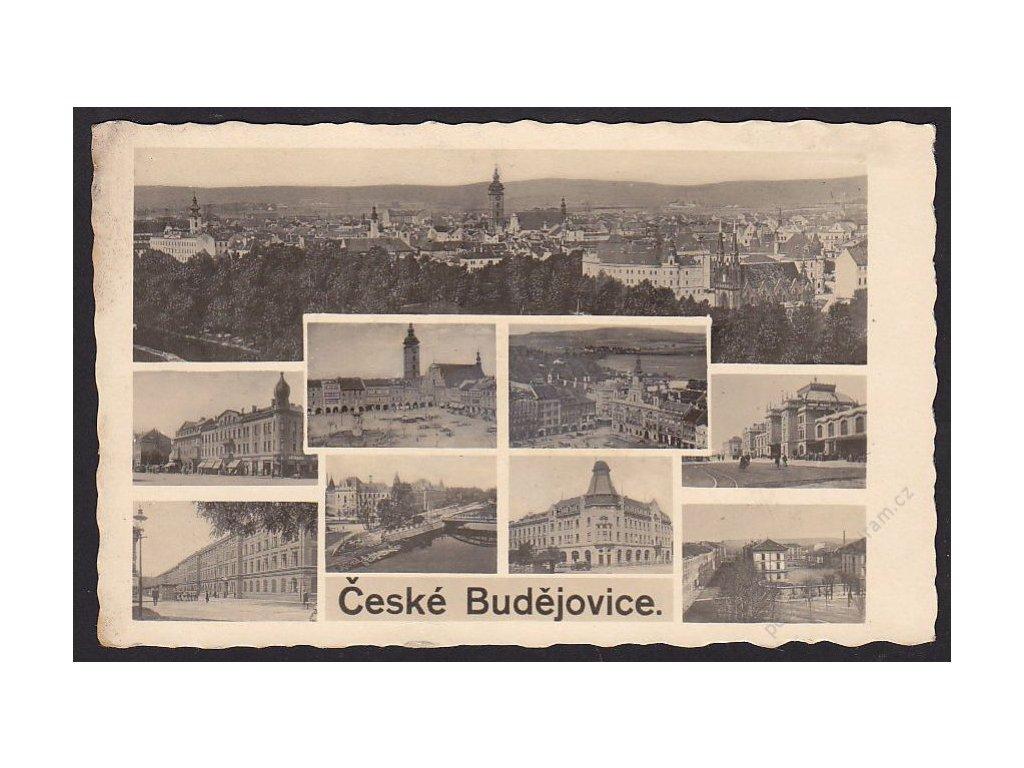 12 - České Budějovice, části města, foto Fon, cca 1938