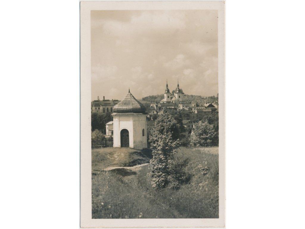 70 - Orlickoústecko, Žamberk, partie u kapličky s pohldem na město, cca 1934