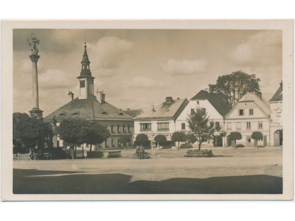 70 - Orlickoústecko, Žamberk, partie z náměstí, cca 1935