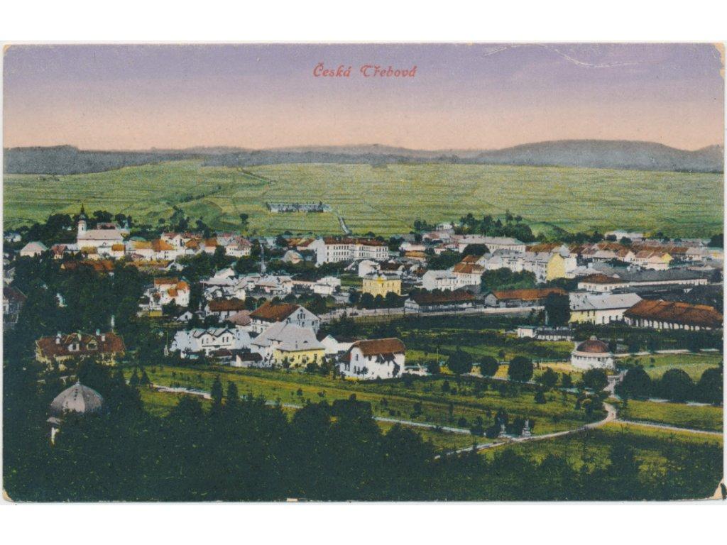 70 - Orlickoústecko, Česká Třebová, celkový pohled na město, cca 1920