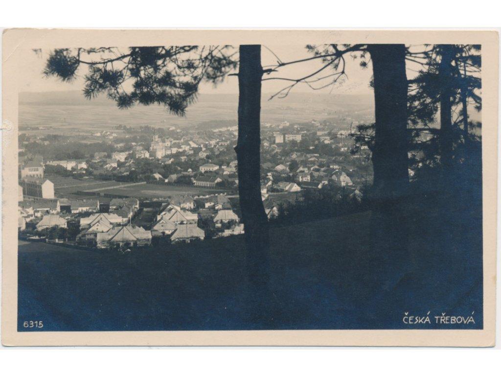 70 - Orlickoústecko, Česká Třebová, pohled na město, cca 1930