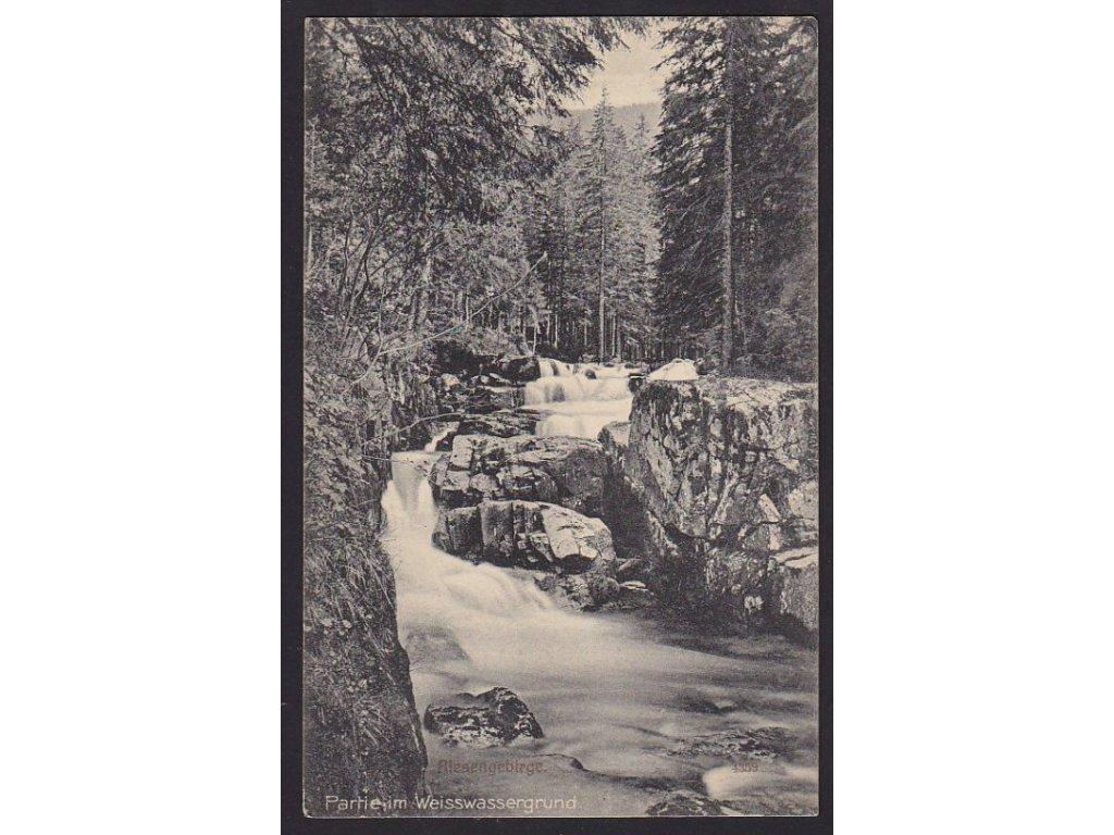 66 - Trutnovsko, Krkonoše, Bílé labe (weisswassergrund), nakl. Pietschmann, cca 1912