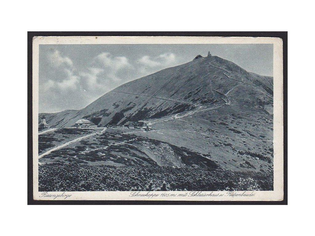 66 - Trutnovsko, Krkonoše, Sněžka (Riesengebirge, Schneekoppe), nakl. Wenzel, cca 1920
