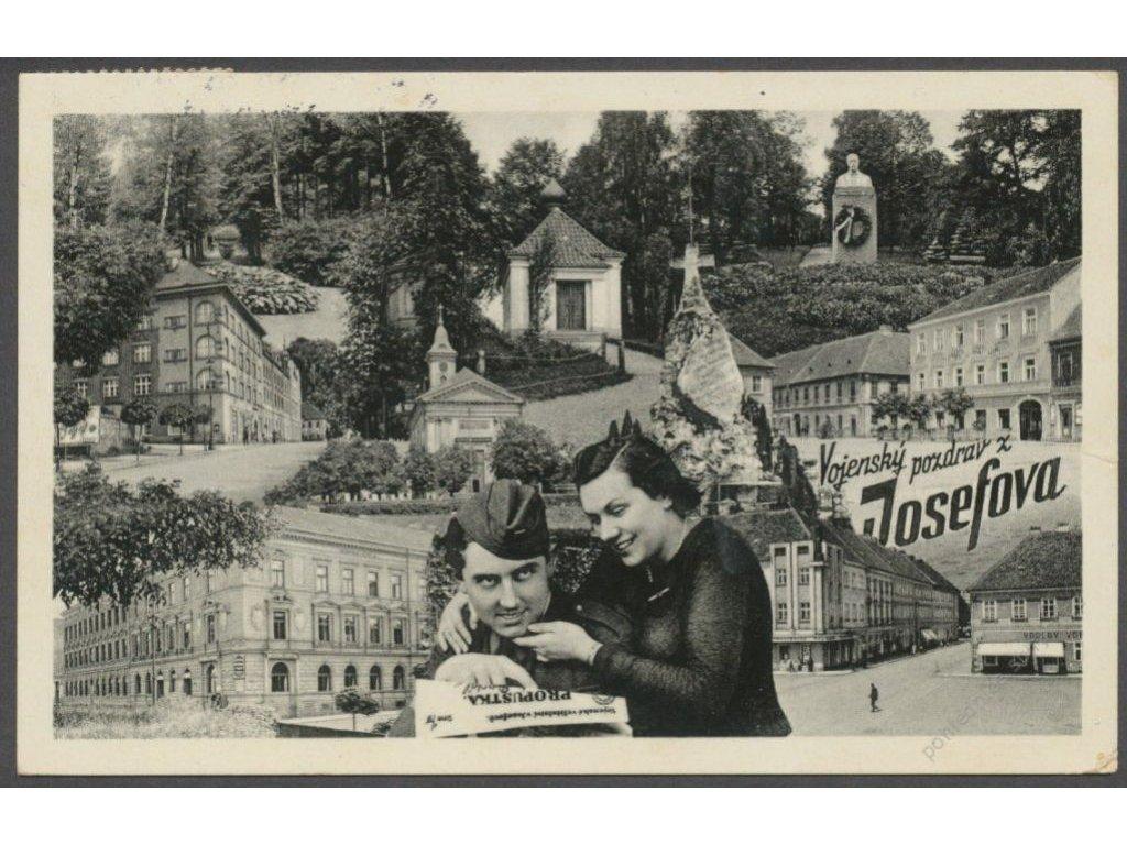 38 - Náchodsko, Josefov, vojenský pozdrav, cca 1938