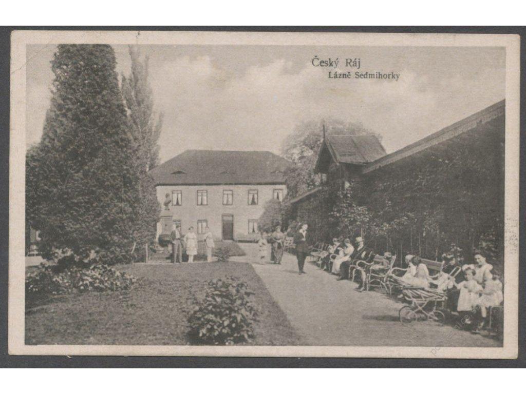 58 - Semilsko, Český Ráj, lázně Sedmihorky, cca 1923