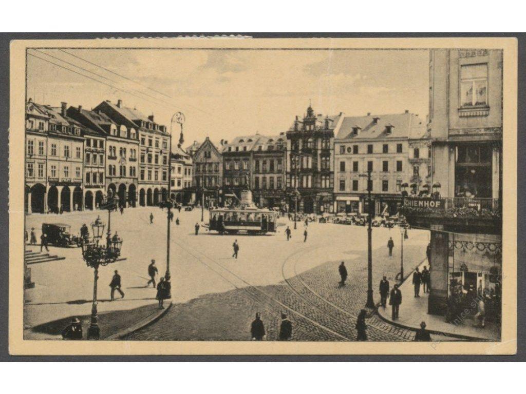 32 - Liberec (Reichenberg), Staroměstské náměstí (Altstädterplatz), foto Madlé, cca 1933