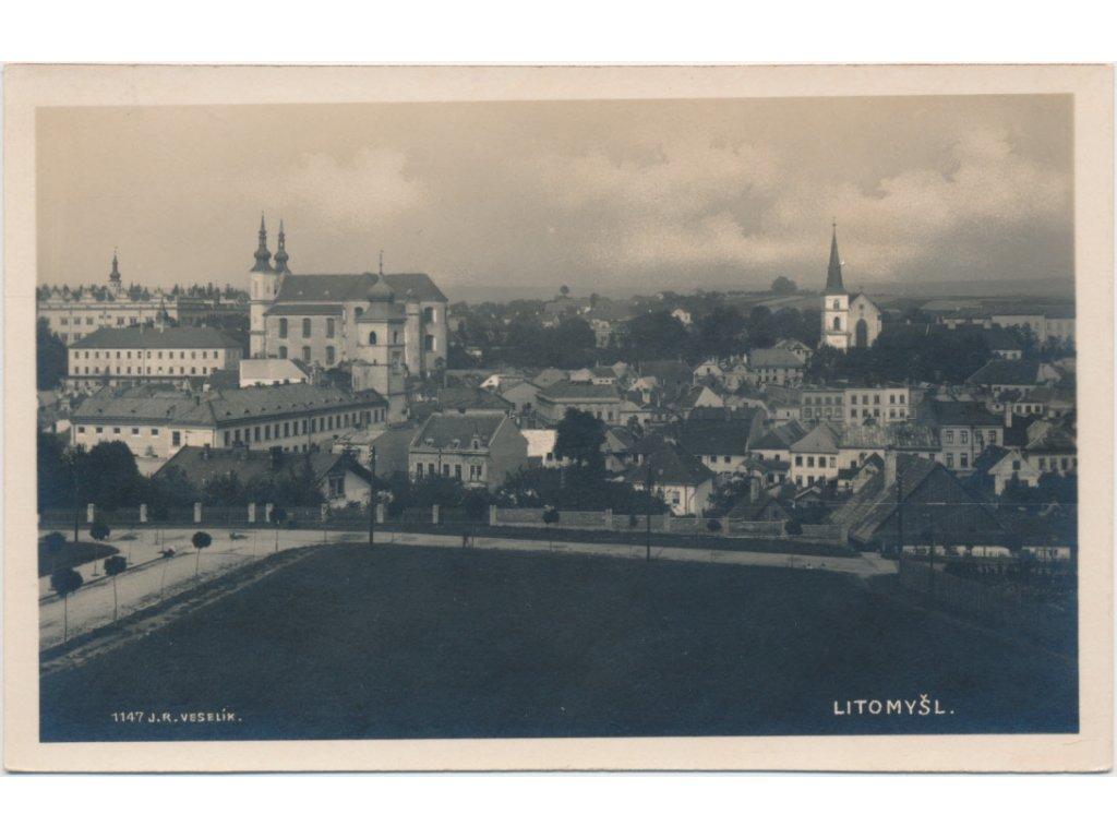 61 - Svitavsko, Litomyšl, celkový pohled na město, Foto Fon...