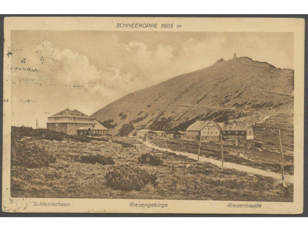66 - Trutnovsko, Krkonoše, Sněžka (Riesengebirge, Schneekoppe), nakl. Wenzel, cca 1924