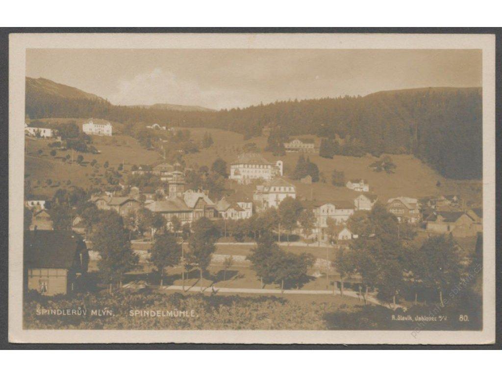 66 - Trutnovsko, Krkonoše, Špindlerův mlýn (Spindelmühle), nakl. Slavík, foto Fon, cca 1935