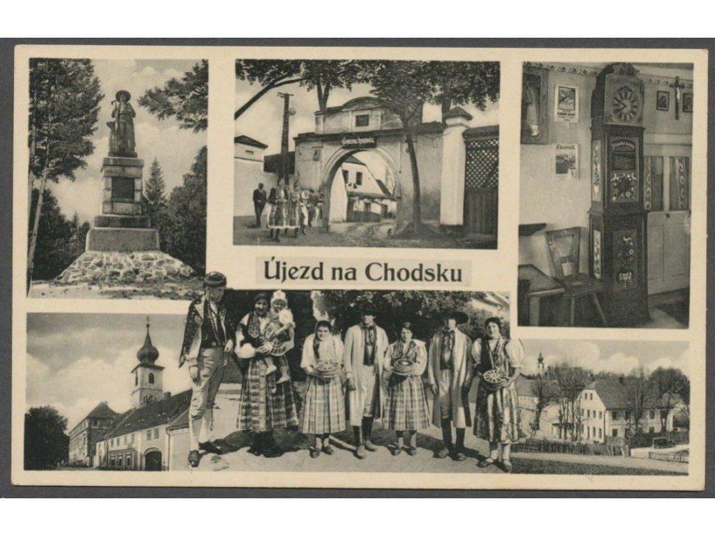 15 - Domažlicko, Újezd na Chodsku, nakl. Kitzbergrová, cca 1930
