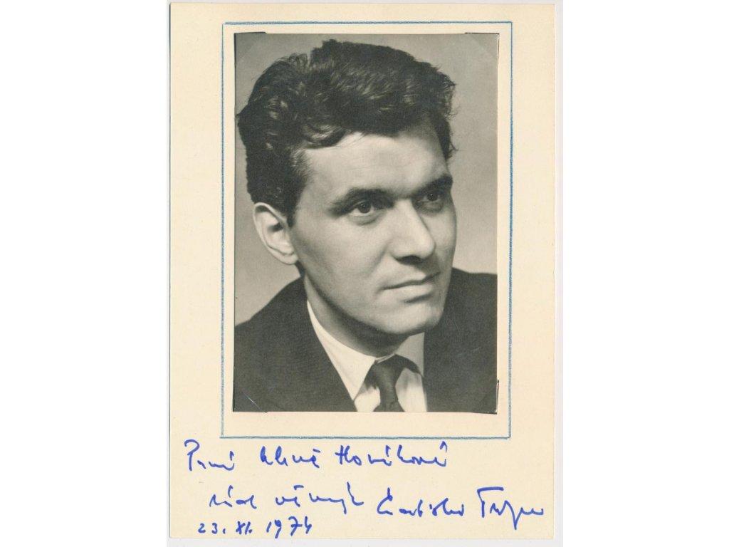 Trojan Ladislav (1932), herec, karta s vlastn. věnováním a podpisem