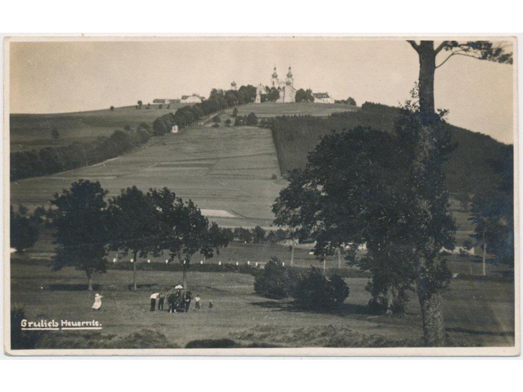 70 - Orlickoústecko, Králíky, oživená partie pod poutním místem, 1929