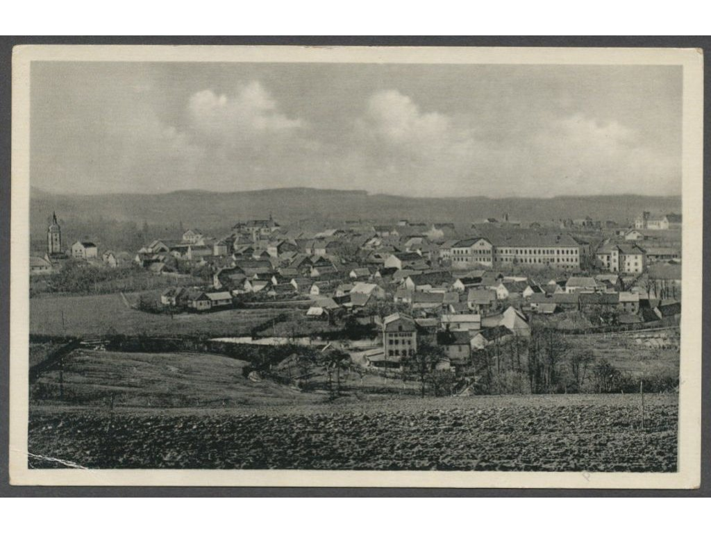 01 - Benešovsko, Votice, celkový pohled, nakl. Kladivová, cca 1930