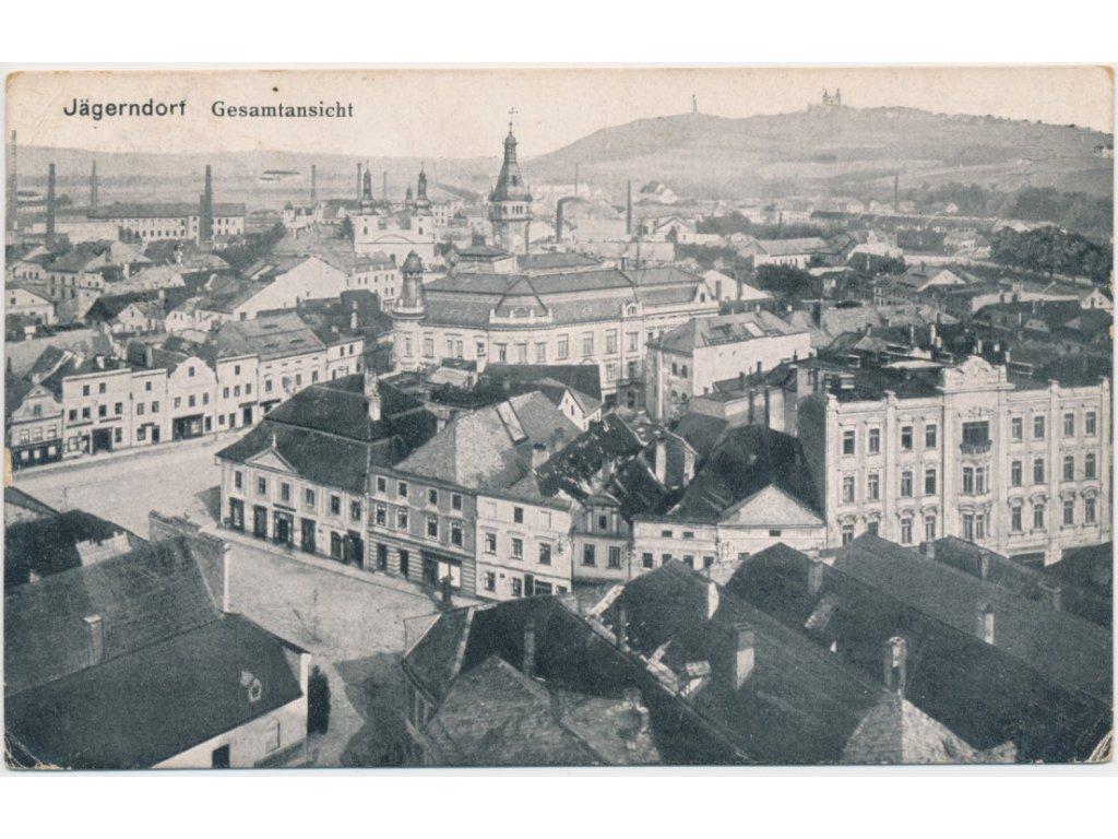 06 - Bruntálsko, Krnov, celkový pohled na město, cca 1915