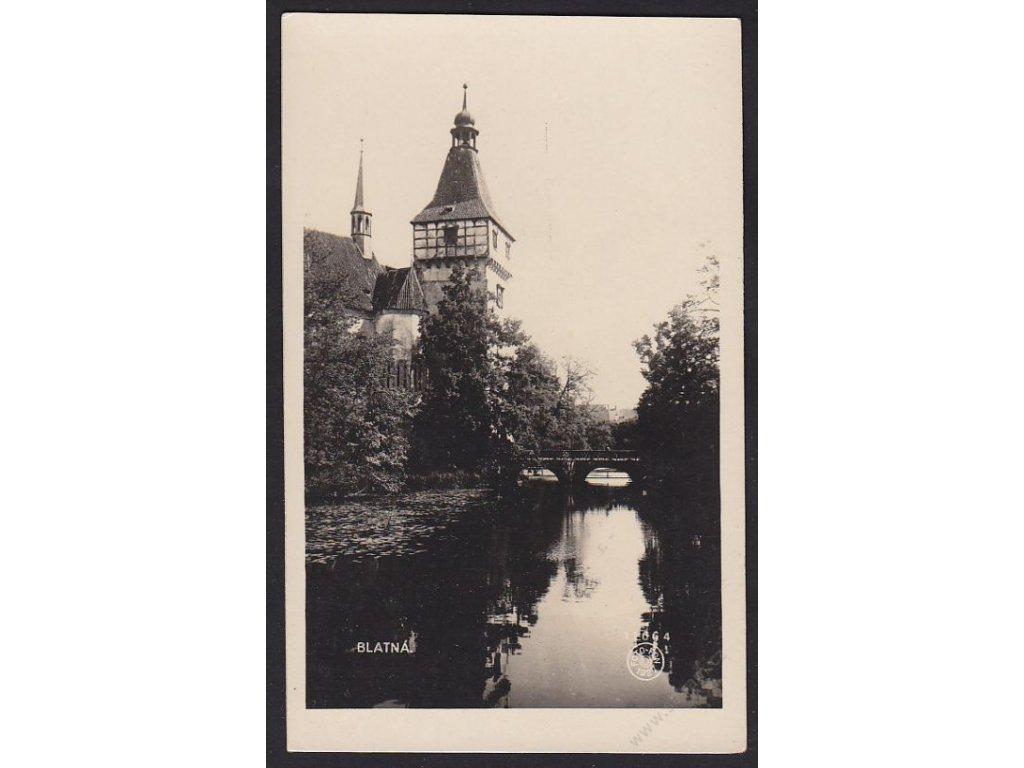 60 - Strakonicko, Blatná, zámek, foto Fon č.11664, cca 1930