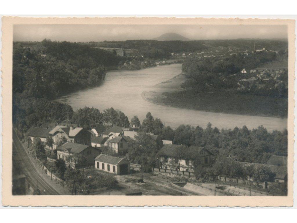 35 - Mělnicko, Kralupy nad Vltavou, pohled na řeku Vltavu a okolí,