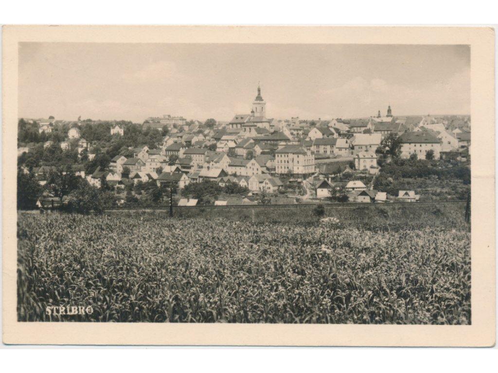 63 - Tachovsko, Stříbro,celkový pohled na město, Foto Fon