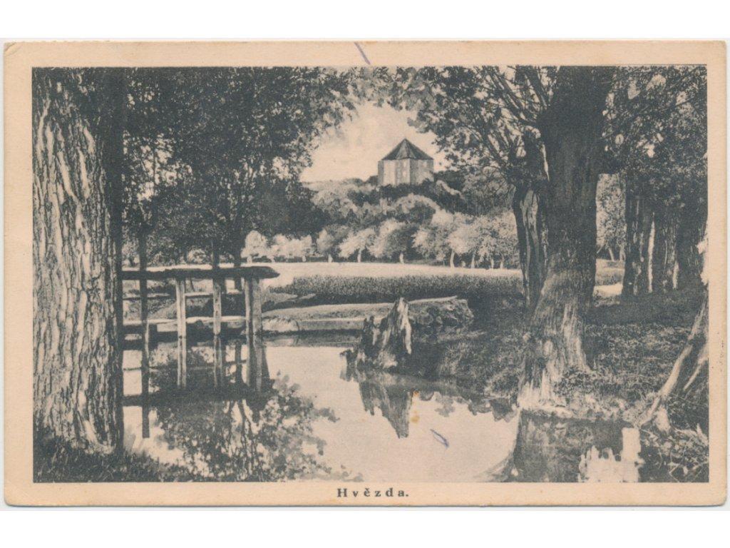49 - Praha, partie z parku u Královského letohrádku Hvězda, ca 1930