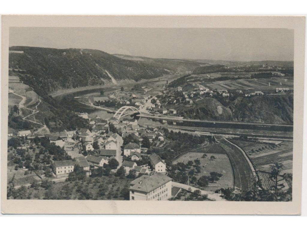 51 - Praha - západ, Štěchovice, celkový pohled, cca 1946