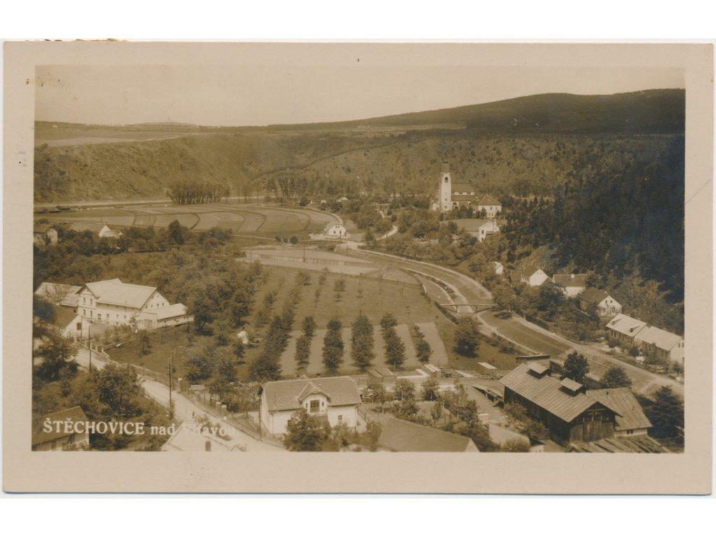 51 - Praha - západ, Štěchovice, celkový pohled na městys, cca 1926