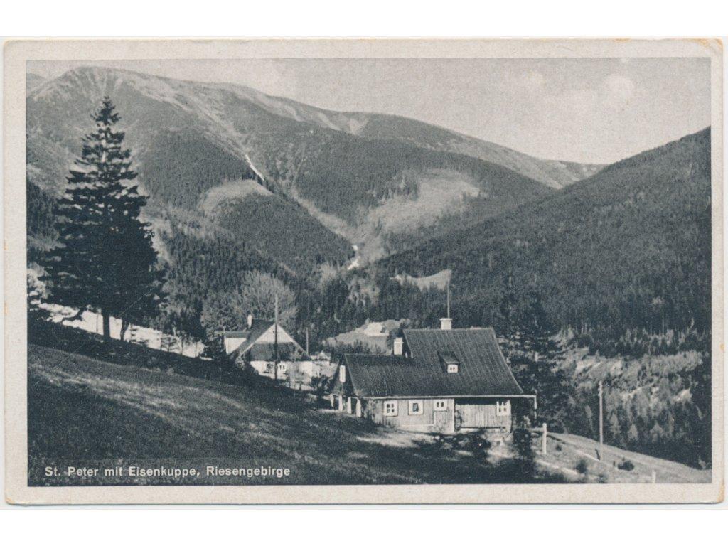 66 - Trutnovsko, Špindlerův Mlýn, St. Peter mit Eisenkuppe, ca 1946