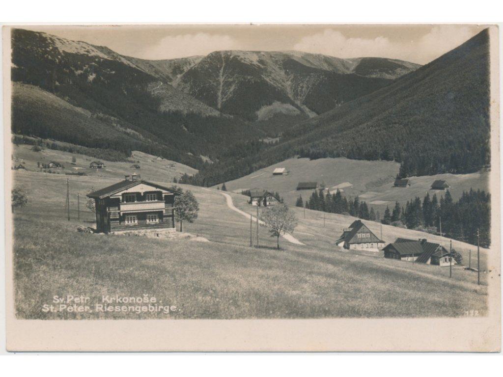 66 - Trutnovsko, Špindlerův Mlýn, Krkonoše, Svatý Petr, cca 1929