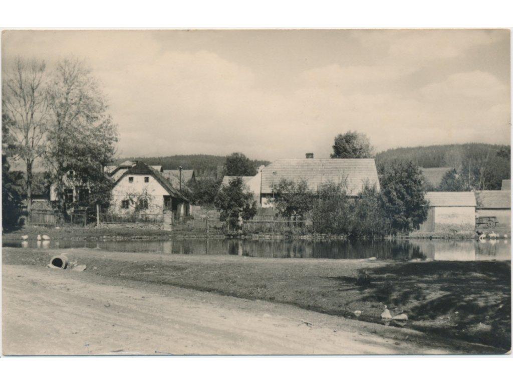 31 - Kutnohorsko, Chabeřice, pohled na část obce, cca 1955