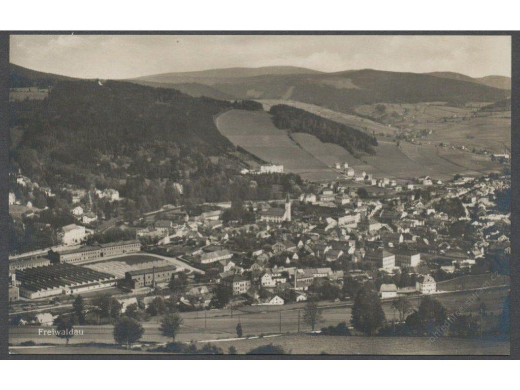 21 - Jeseník, celkový pohled, nakl. Wagner, cca 1930