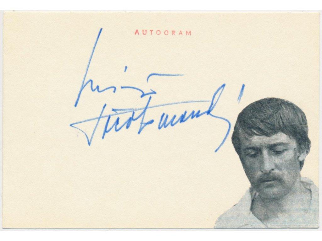 Dočolomanský Michal (1942-2008), herec, sběratelská karta, podpis