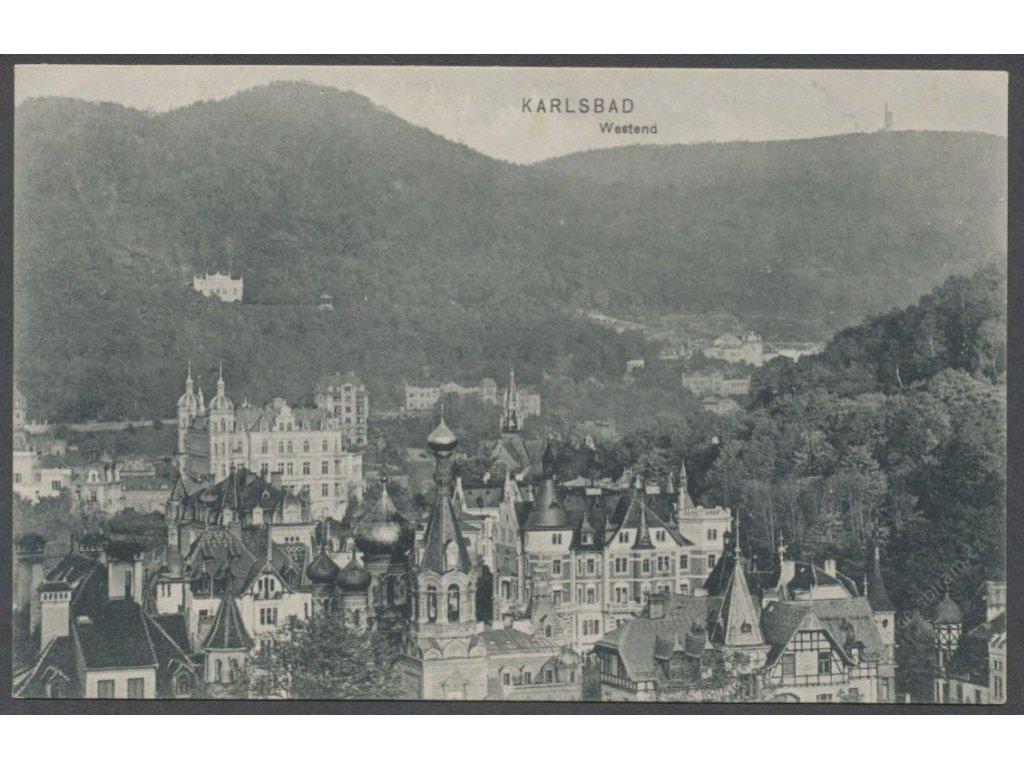 25 - Karlovy Vary (Karlsbad), západní strana (Westend), nakl. A. K. K., cca 1911