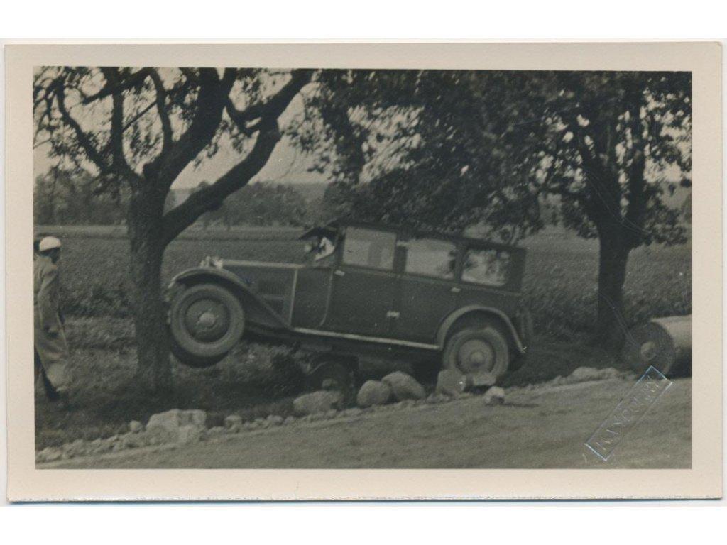 70 - Orlickoústecko, Vysoké Mýto, dopravní nehoda, foto Výborný,1931
