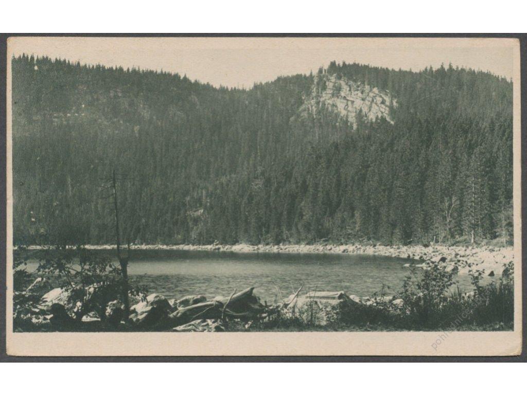 48 - Prachaticko, Šumava, Plešné jezero, nakl. Seidel Nr. 227, cca 1922