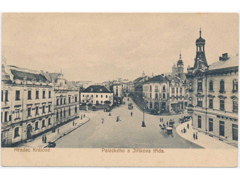 19 - Hradec Králové, oživená Palackého a Jiříkova třída, nákl. J. Hájek