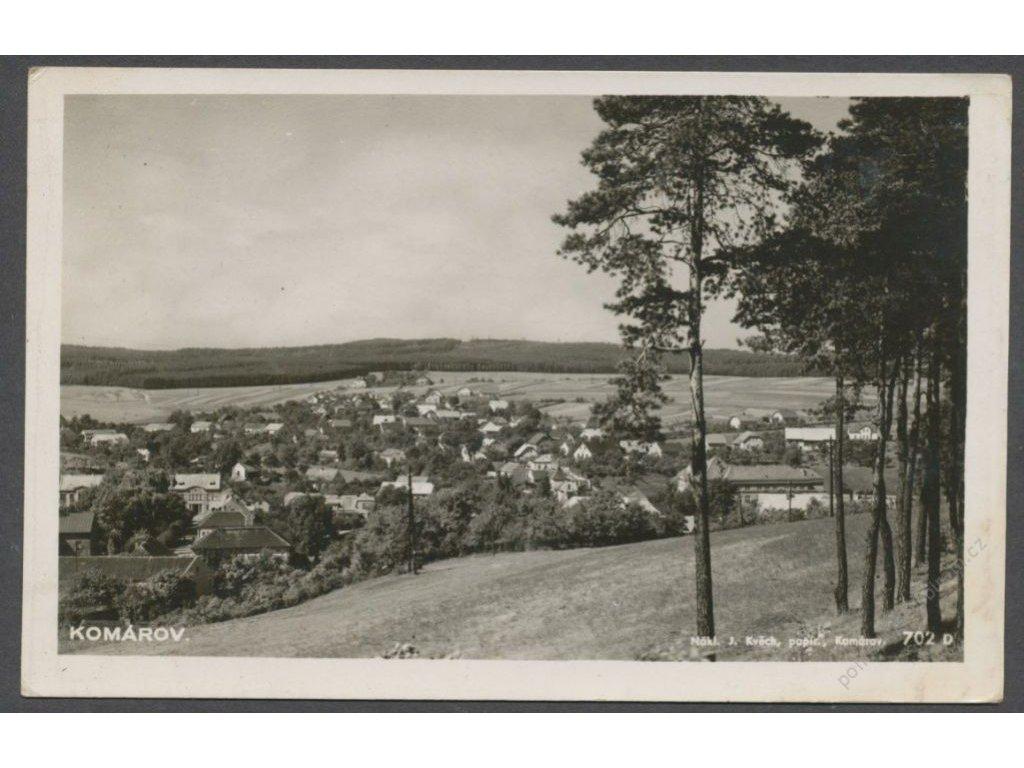 58 - Semilsko, Komárov, celkový pohled, nakl. Kvěch, foto Fon, cca 1938