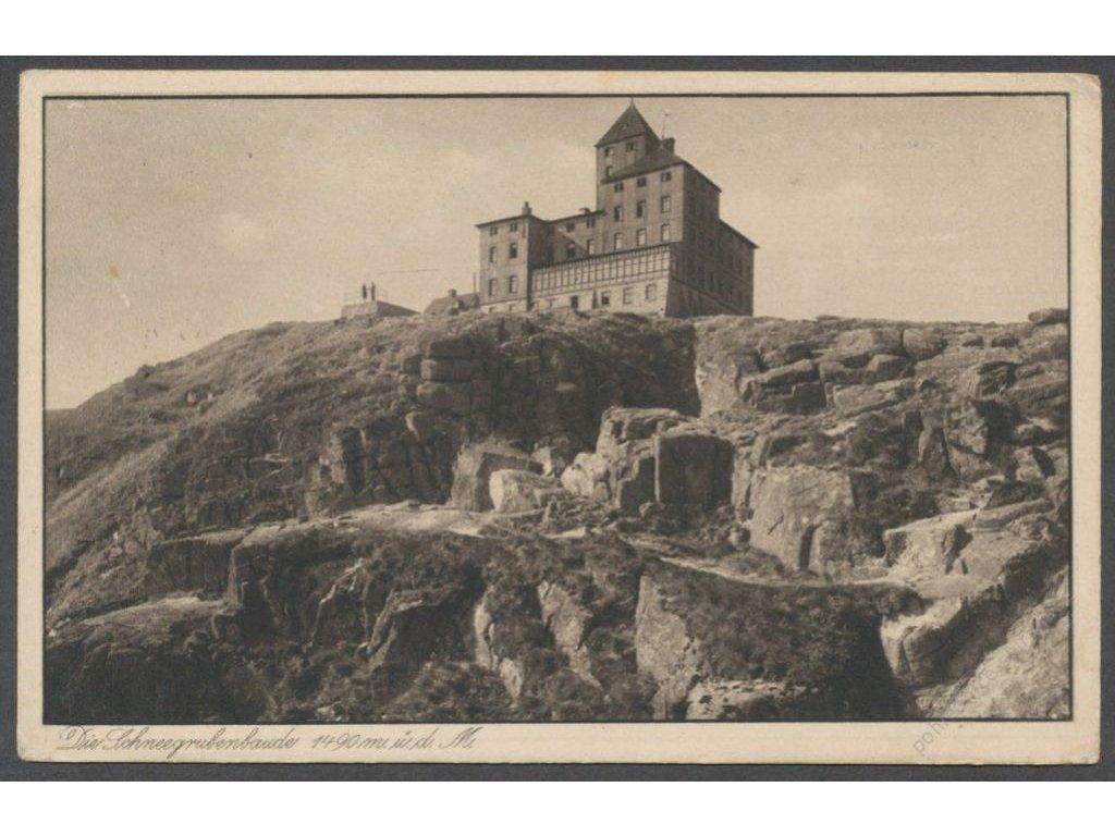 66 - Trutnovsko, Krkonoše, Sněžka, vrchol, nakl.  Söhne, cca 1932
