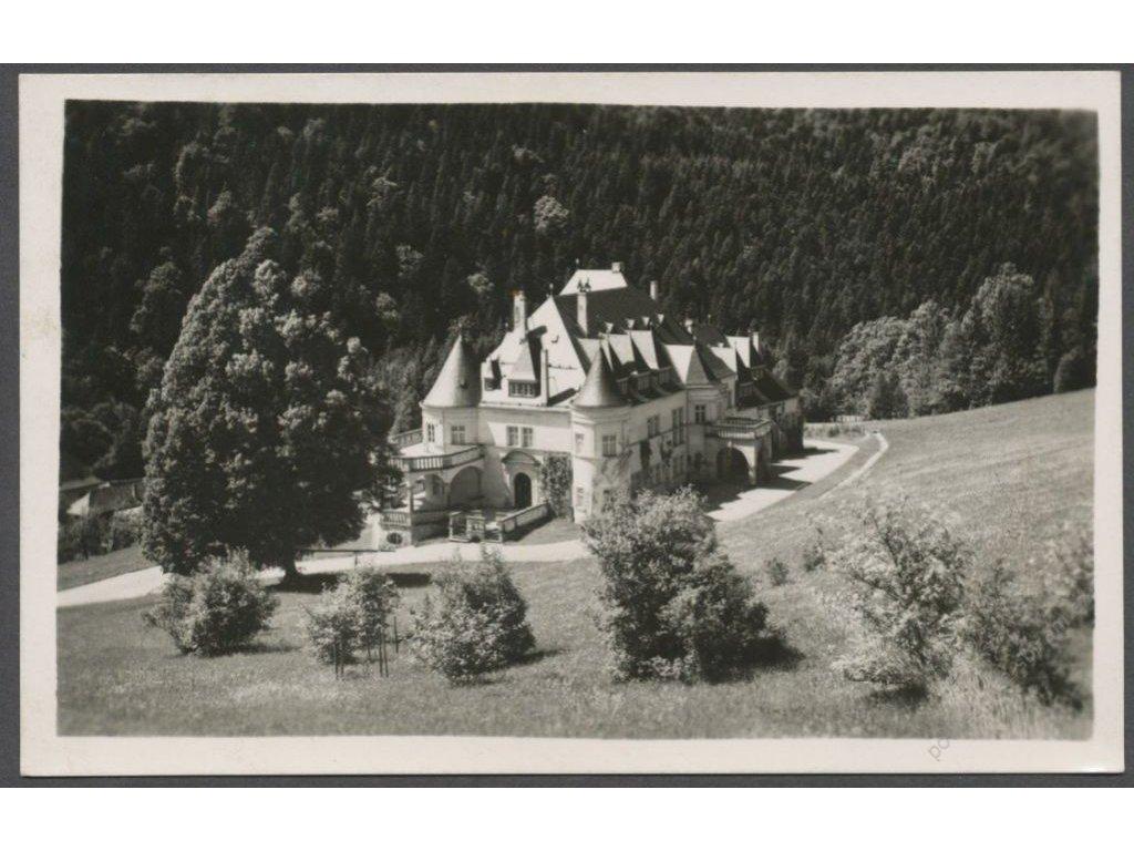 """Slovensko, Kuneradský zámok, nakl. """"UNA"""", cca 1935"""