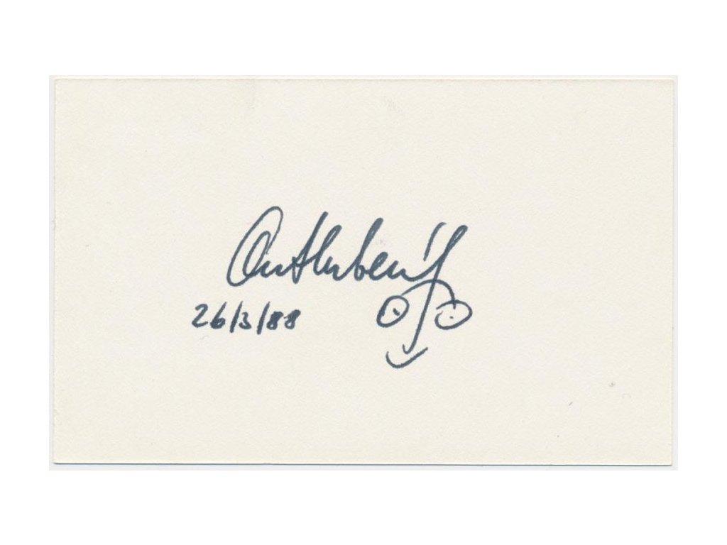 Bubeník Antonín (1940 - 1947), tenisový rozhodčí a herec, podpis