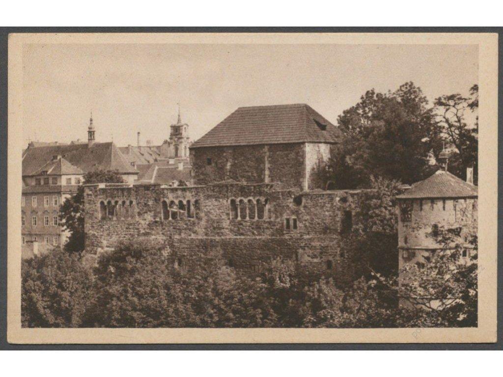 08 - Cheb (Eger), Kaiserburg (zřícenina hradu), cca 1945