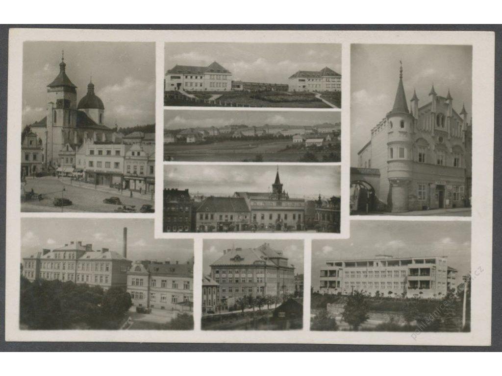 17 - Havlíčkův brod (Německý Brod, Deustch Brod), části města, foto Švec, cca 1940