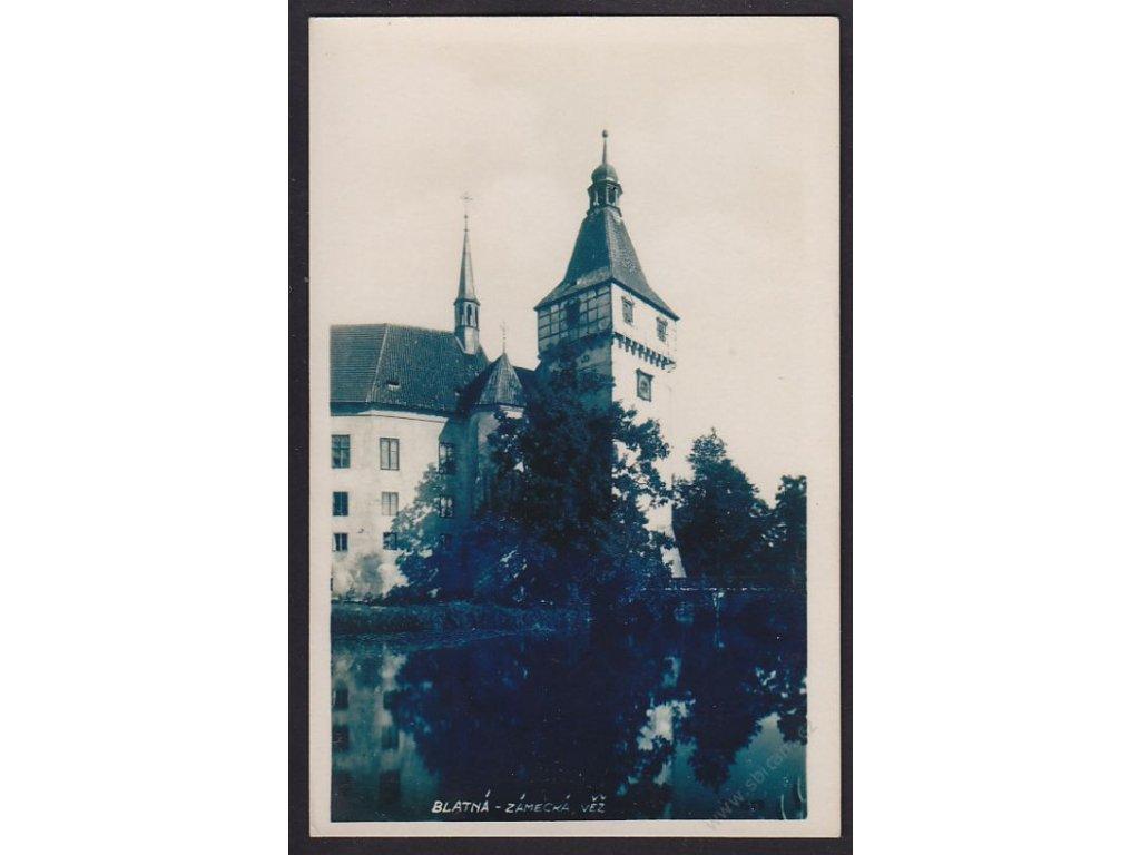 60 - Strakonicko, Blatná, zámecká věž, nakl. Rampa, cca 1930
