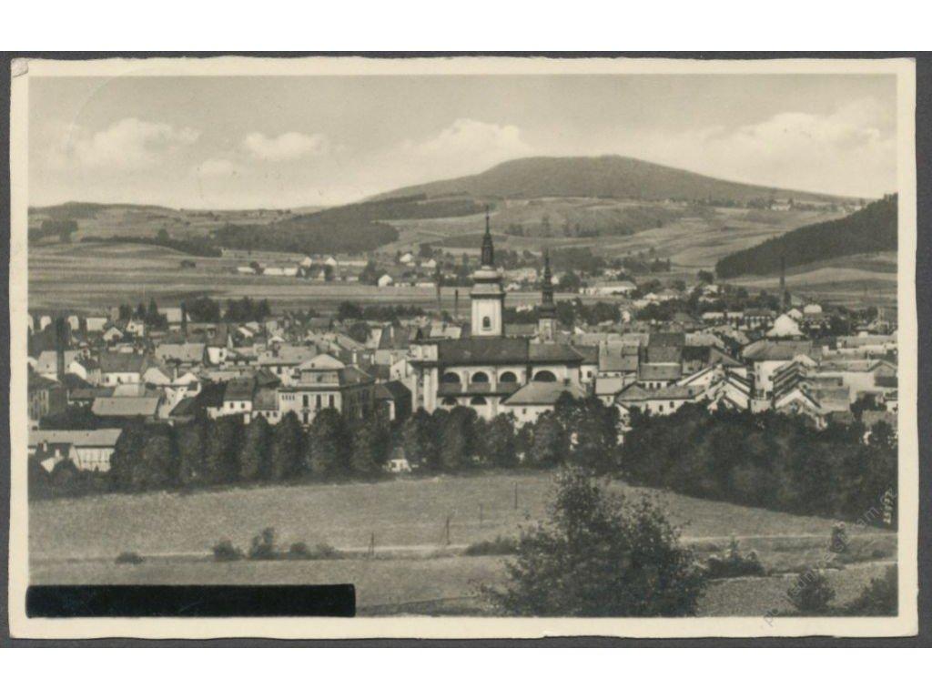 61 - Svitavsko, Moravská Třebová (Mährish Trübau), celkový pohled, nakl. Navratil, cca 1945