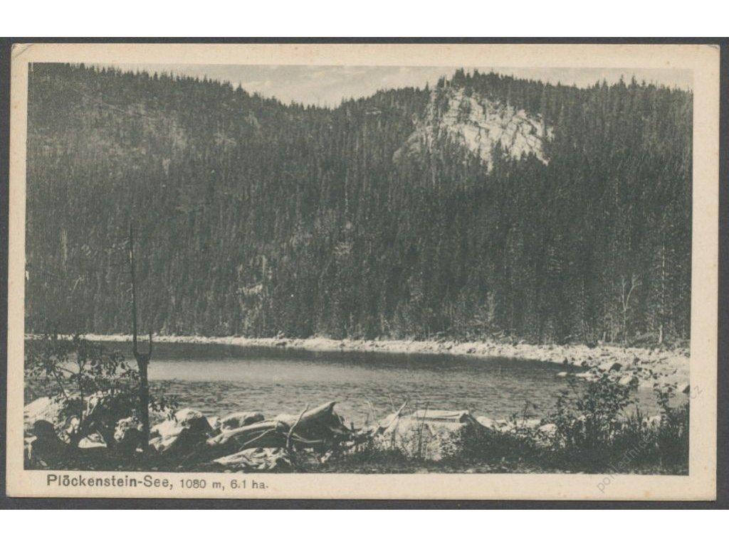 48 - Prachaticko, Šumava, Plešné jezero, (Plöckenstein-See), nakl. Seidel č. 227. cca 1920