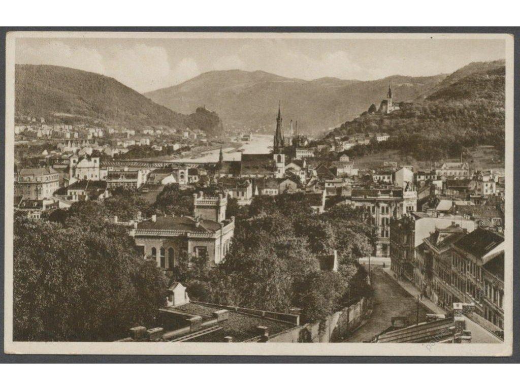 69 - Ústí nad Labem (Aussig a. d. Elbe), celkový pohled s Labem, nakl. Reichmann, cca 1932