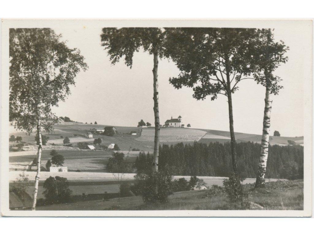 57 - Rychnovsko, Jedlová, pohled na část obce, Grafo Čuda...