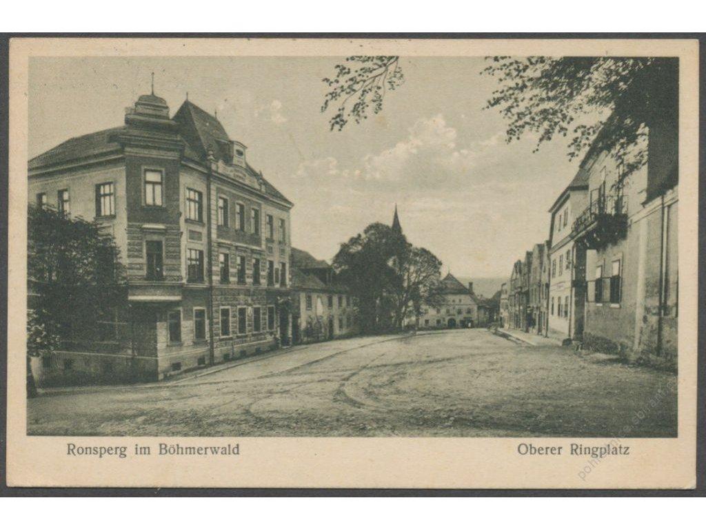 15 - Domažlicko, Poběžovice (dříve Ronšperk, Ronsperg), náměstí, nakl. Lederer, cca 1932
