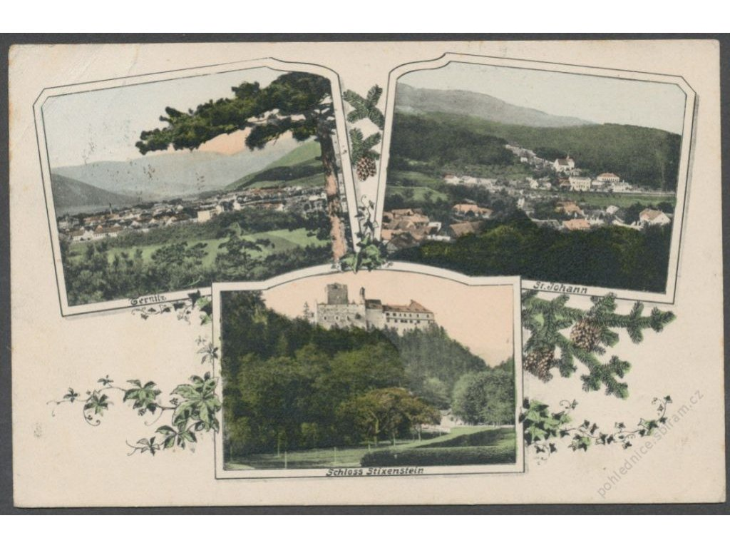 Austria, Lower Austria, castle Stixenstein, Ternitz and St. Johann, pub. Ledermann, cca 1910