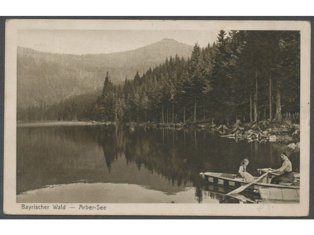 Germany, Bavaria, Bavarian Forest, Arbersee, publ. and photo Seidel no. 1190, cca 1916